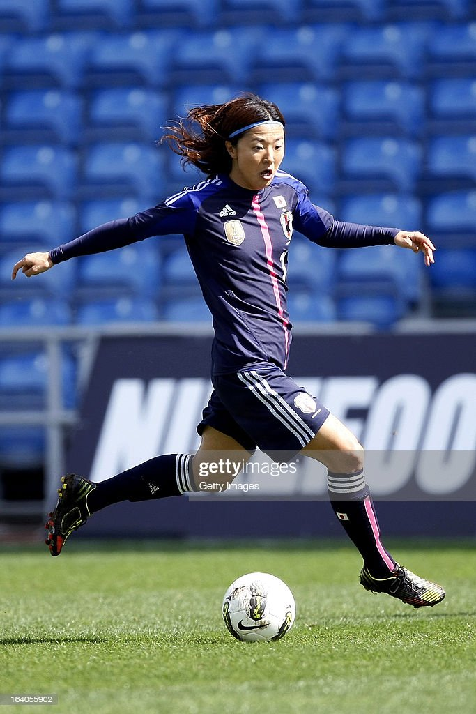<a gi-track='captionPersonalityLinkClicked' href=/galleries/search?phrase=Yuki+Ogimi&family=editorial&specificpeople=9532711 ng-click='$event.stopPropagation()'>Yuki Ogimi</a> of Japan during the Algarve Cup 2013 match between Denmark and Japan at the Algarve stadium on March 11, 2013 in Faro, Portugal.