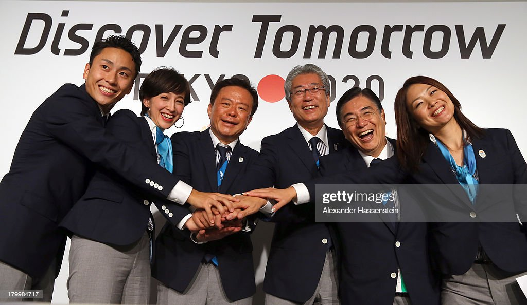 <a gi-track='captionPersonalityLinkClicked' href=/galleries/search?phrase=Yuki+Ota&family=editorial&specificpeople=2956051 ng-click='$event.stopPropagation()'>Yuki Ota</a> Tokyo 2020 Bid Committee Ambassador pose with Christel Takigawa, 'Cool Tokyo' Ambassado, Naoki Inose, Governor of Tokyo and Chairman Tokyo 2020 Bid Committee, Tsunekazu Takeda, President of the Tokyo 2020 Bid Committee, Masato Mizuno, Tokyo 2020 Bid Committee CEO and Mami Sato, Tokyo 2020 Bid Committee Ambassador after a Tokyo 2020 Bid Committee press conference at Sheraton Buenos Aires Hotel and Convention Center after Tokyo is awarded the 2020 Summer Olympic Games during the 125th IOC Session - 2020 Olympics Host City Announcement on September 7, 2013 in Buenos Aires, Argentina.