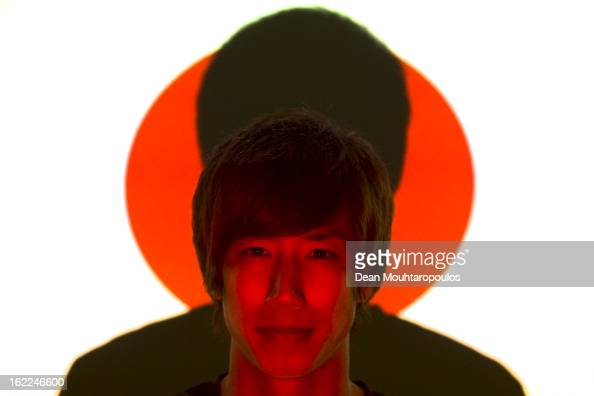 Yuki Otsu of Japan and VVV Venlo poses during a Feature Shoot at the Seacon Stadion De Koel on January 25 2013 in Venlo Netherlands