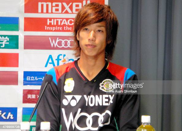 Yuki Otsu of Kashiwa Reysol attends a press conference announcing he is joining the German side Borussia Monchengladbach at Hitachi Kashiwa Soccer...