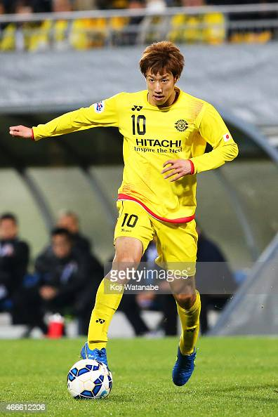 Yuki Otsu of Kashiwa Reysol in action during the AFC Champions League Group E match between Kashiwa Reysol v Shandong Luneng FC at Hitachi Kashiwa...