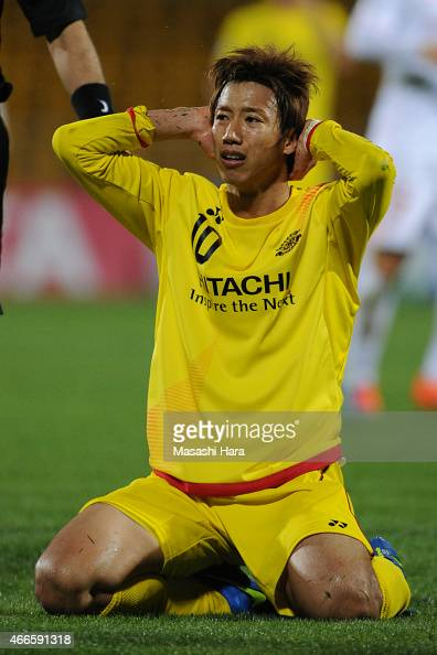 Yuki Otsu of Kashiwa Reysol looks on during the AFC Champions League Group E match between Kashiwa Reysol v Shandong Luneng FC at Hitachi Kashiwa...