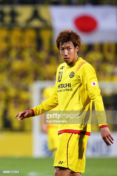 Yuki Otsu of Kashiwa Reysol looks on the AFC Champions League Group E match between Kashiwa Reysol v Shandong Luneng FC at Hitachi Kashiwa Soccer...