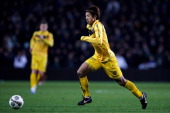 Yuki Otsu of Venlo in action during the Eredivisie match between FC Groningen and VVV Venlo at the Euroborg Stadium on December 15 2012 in Groningen...