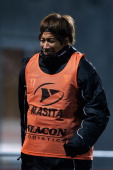 Yuki Otsu of Venlo warms up during the Eredivisie match between PEC Zwolle and VVV Venlo at IJsseldelta Stadion on November 30 2012 in Zwolle...