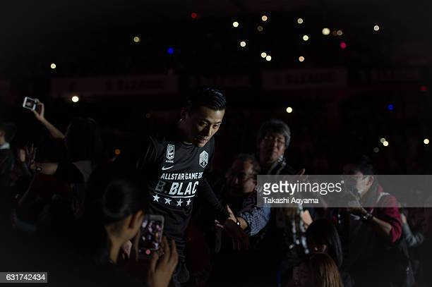 Yuki Togashi of the BBlack enter the court prior to the B league Allstar Game match between B Black and B White as part of the 2017 Bleague AllStar...