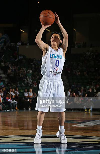 Yuki Togashi of the Texas Legends shoots a free throw against the Oklahoma City Blue during an NBDL game on December 5 2014 at the Dr Pepper Arena in...