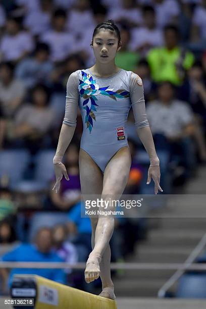 Yuki Uchiyama competes in the Balance Beam during the Artistic Gymnastics NHK Trophy at Yoyogi National Gymnasium on May 4 2016 in Tokyo Japan