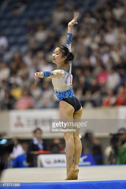 Yuki Uchiyama competes on the Floor during the Artistic Gymnastics NHK Trophy at Yoyogi National Gymnasium on May 17 2015 in Tokyo Japan