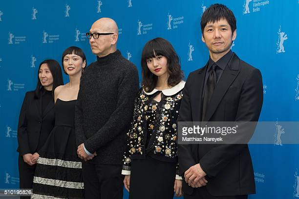 Yukie Kito Sayuri Oyamada Wayne Wang Shiori Kutsuna and Hidetoshi Nishiima attend the 'While the Women Are Sleeping' photo call during the 66th...