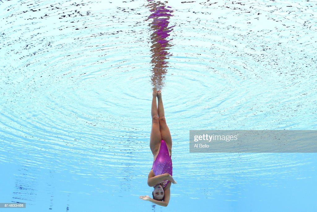 Yukiko Inui of Japan competes during the Womens Synchro Solo Technical, final on day two of the Budapest 2017 FINA World Championships on July 15, 2017 in Budapest, Hungary.
