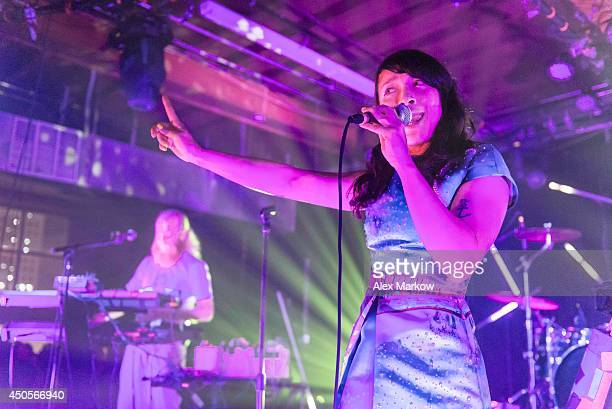 Yukimi Nagano of Little Dragon performs at Grand Central Miami on June 12 2014 in Miami Florida