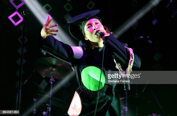 Yukimi Nagano of Little Dragon performs at Parklife Festival 2017 at Heaton Park on June 10 2017 in Manchester England