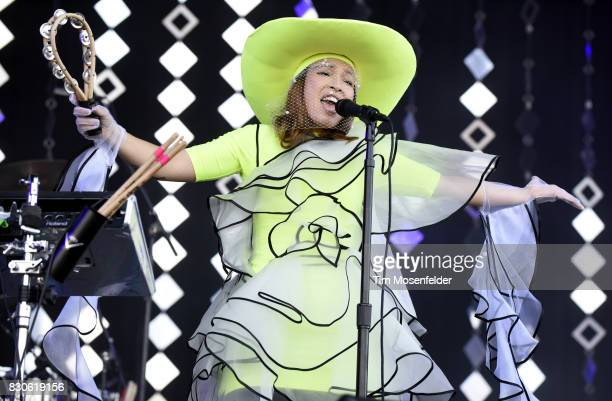 Yukimi Nagano of Little Dragon performs during the 2017 Outside Lands Music and Arts Festival at Golden Gate Park on August 11 2017 in San Francisco...