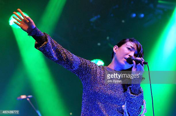 Yukimi Nagano of Little Dragon performs live on stage during the final night of the Somerset House Summer Series at Somerset House on July 20 2014 in...
