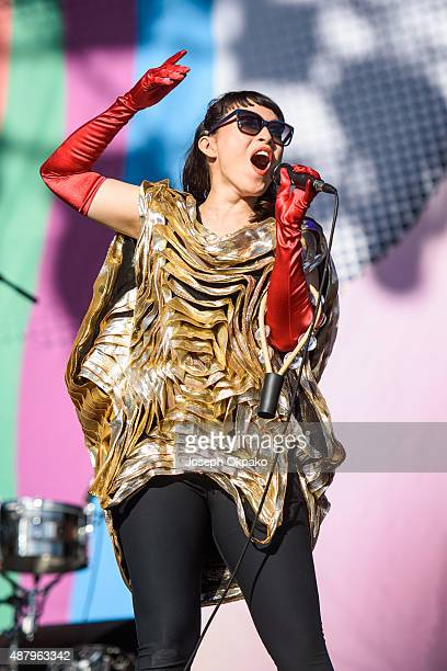 Yukimi Nagano of Little Dragon performs on day 3 of Bestival at Robin Hill Country Park on September 12 2015 in Newport Isle of Wight