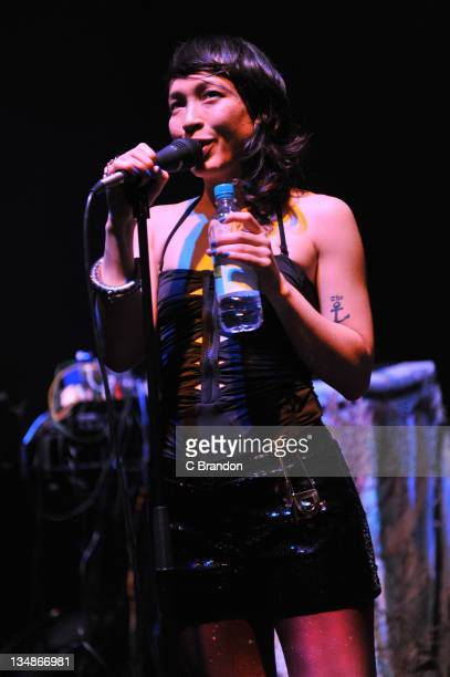 Yukimi Nagano of Little Dragon performs on stage at Shepherds Bush Empire on December 4 2011 in London United Kingdom