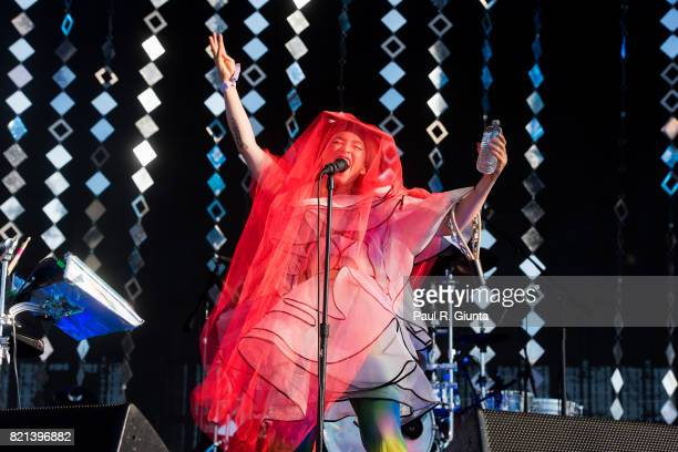 Yukimi Nagano of Little Dragon performs on stage in Exposition Park during Day 3 of FYF 2017 on July 23 2017 in Los Angeles California