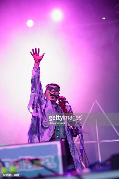 Yukimi Nagano singer of the band Little Dragon performs live on stage during the second day of the Lollapalooza Berlin music festival at Tempelhof...