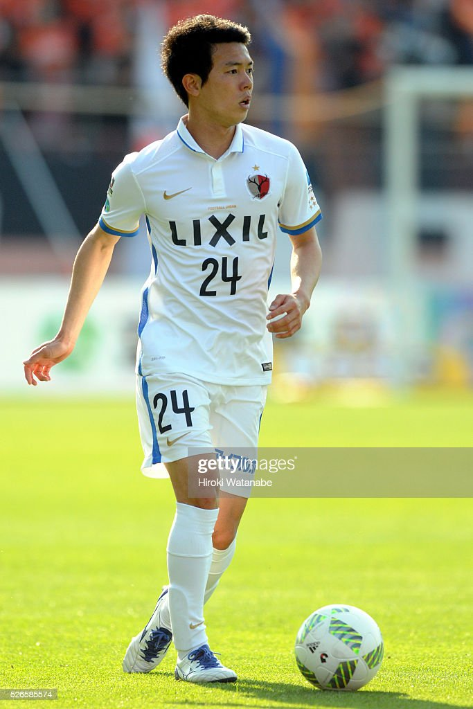 <a gi-track='captionPersonalityLinkClicked' href=/galleries/search?phrase=Yukitoshi+Ito&family=editorial&specificpeople=11628569 ng-click='$event.stopPropagation()'>Yukitoshi Ito</a> of Kashima Antlers takes a free kick during the J.League match between Omiya Ardija and Kashima Antlers at Nack 5 Stadium Omiya on April 30, 2016 in Saitama, Japan.