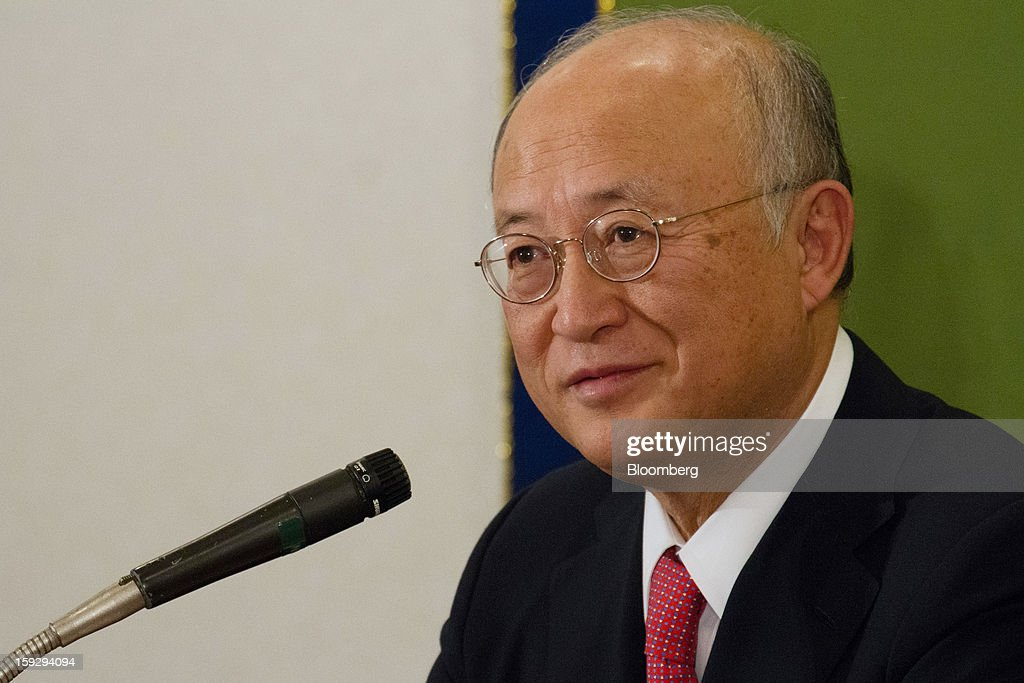 <a gi-track='captionPersonalityLinkClicked' href=/galleries/search?phrase=Yukiya+Amano&family=editorial&specificpeople=771232 ng-click='$event.stopPropagation()'>Yukiya Amano</a>, director general of the International Atomic Energy Agency (IAEA), attends a news conference in Tokyo, Japan, on Friday, Jan. 11, 2013. The IAEA and the Fukushima prefecture government signed an agreement on Dec. 15 to help Japan with decontamination and radioactive waste management after the Fukushima nuclear disaster. Photographer: Noriyuki Aida/Bloomberg via Getty Images