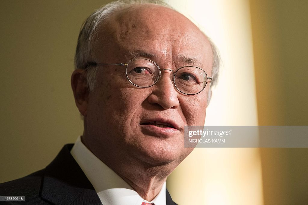 <a gi-track='captionPersonalityLinkClicked' href=/galleries/search?phrase=Yukiya+Amano&family=editorial&specificpeople=771232 ng-click='$event.stopPropagation()'>Yukiya Amano</a>, Director General of the International Atomic Energy Agency (IAEA), speaks at the Carnegie International Nuclear Policy Conference in Washington, DC, on March 23, 2015.
