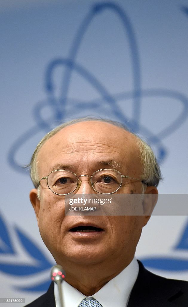 <a gi-track='captionPersonalityLinkClicked' href=/galleries/search?phrase=Yukiya+Amano&family=editorial&specificpeople=771232 ng-click='$event.stopPropagation()'>Yukiya Amano</a>, director general of the International Atomic Energy Agency (IAEA), speaks to journalists during his press conference of the IAEA Board of Governors Meeting at IAEA headquarters in Vienna, Austria on August 25, 2015.