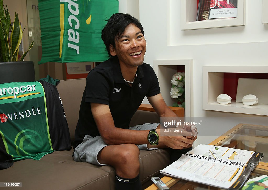 <a gi-track='captionPersonalityLinkClicked' href=/galleries/search?phrase=Yukiya+Arashiro&family=editorial&specificpeople=5954685 ng-click='$event.stopPropagation()'>Yukiya Arashiro</a> of Japan and Team Europcar during the second rest day of the 2013 Tour de France on July 15, 2013 in Avignon, Vaucluse, France.