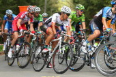 Yukiya Arashiro of Japan and Team Europcar in action during the 100th edition of the LiegeBastogneLiege road race on April 27 2014 in Liege Belgium...