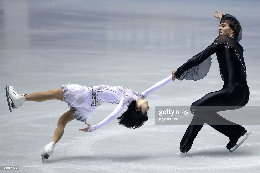 Yuko Kavaguti and <a gi-track='captionPersonalityLinkClicked' href=/galleries/search?phrase=Alexander+Smirnov&family=editorial&specificpeople=4045603 ng-click='$event.stopPropagation()'>Alexander Smirnov</a> of Russia compete in the Pairs Short Program during the day one of the ISU Grand Prix of Figure Skating Final at Yoyogi National Gymnasium on December 3, 2009 in Tokyo, Japan.