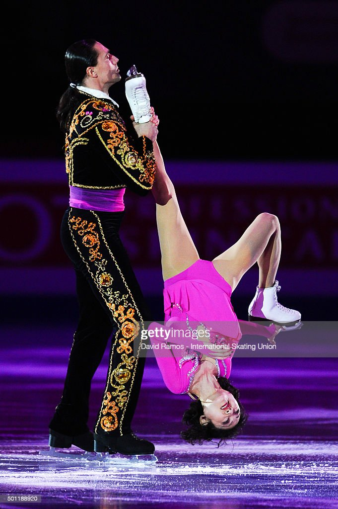 Yuko Kavaguti and <a gi-track='captionPersonalityLinkClicked' href=/galleries/search?phrase=Alexander+Smirnov&family=editorial&specificpeople=4045603 ng-click='$event.stopPropagation()'>Alexander Smirnov</a> of Russia perform at an exhibiton gala on day 4 of the ISU Junior & Senior Grand Prix of Figure Skating Final 2015/2016 at the Barcelona International Convention Centre on December 13, 2015 in Barcelona, Spain .