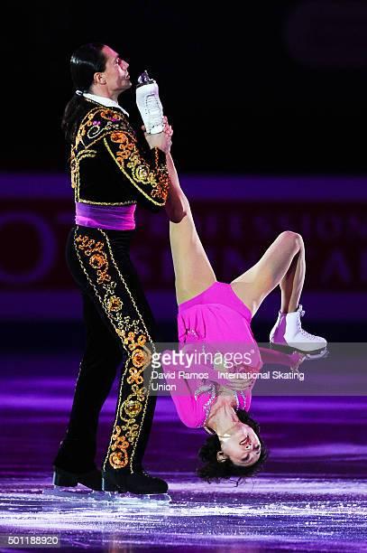 Yuko Kavaguti and Alexander Smirnov of Russia perform at an exhibiton gala on day 4 of the ISU Junior Senior Grand Prix of Figure Skating Final...