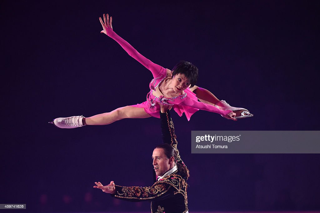 Yuko Kavaguti and <a gi-track='captionPersonalityLinkClicked' href=/galleries/search?phrase=Alexander+Smirnov&family=editorial&specificpeople=4045603 ng-click='$event.stopPropagation()'>Alexander Smirnov</a> of Russia perform their routine in the exhibition during day three of ISU Grand Prix of Figure Skating 2014/2015 NHK Trophy at the Namihaya Dome on November 30, 2014 in Osaka, Japan.