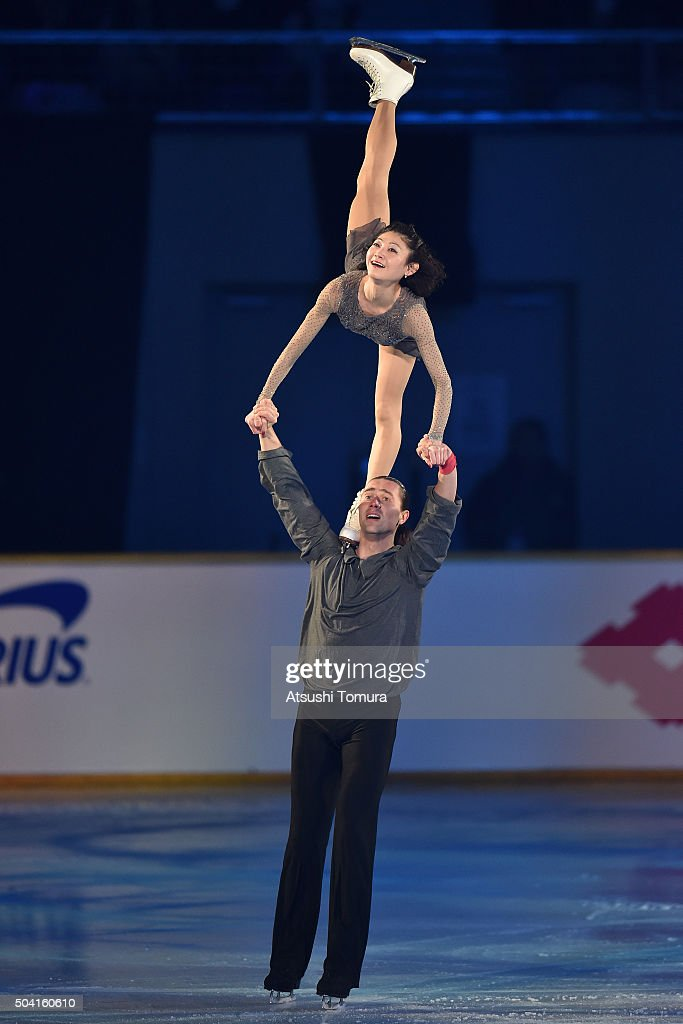 Yuko Kavaguti and <a gi-track='captionPersonalityLinkClicked' href=/galleries/search?phrase=Alexander+Smirnov&family=editorial&specificpeople=4045603 ng-click='$event.stopPropagation()'>Alexander Smirnov</a> of Russia perform thier routine during the NHK Special Figure Skating Exhibition at the Morioka Ice Arena on January 9, 2016 in Morioka, Japan.