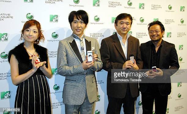 Yuko OguraTakatoshi Kaneko Koichi Ishiduka managing director of Sony Ericsson Mobile Communications Japan and Yu Sasamoto CEO of MTV Japan