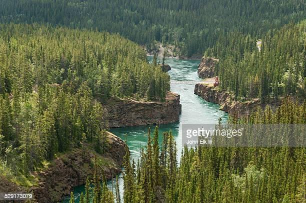 Yukon River, Miles Canyon foot bridge
