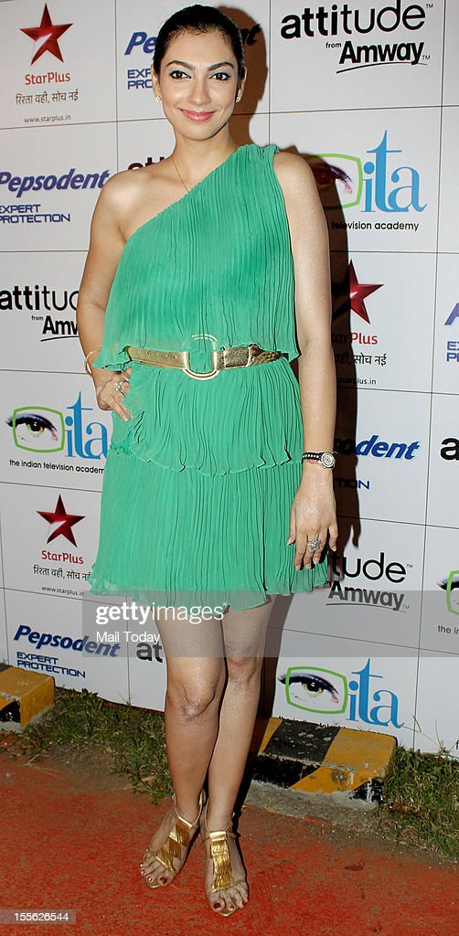 Yukta Mookhey during Indian Television Academy Awards 2012 (ITA Awards), held in Mumbai on November 4, 2012.