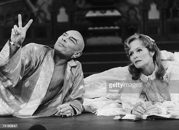 Yul Brynner and Virginia McKenna star in the musical 'The King and I' at the London Palladium 4th June 1979
