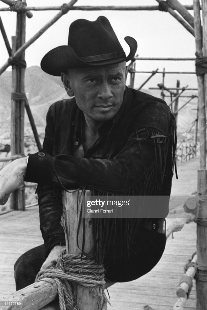 <a gi-track='captionPersonalityLinkClicked' href=/galleries/search?phrase=Yul+Brynner&family=editorial&specificpeople=204712 ng-click='$event.stopPropagation()'>Yul Brynner</a> during the filming of the western 'Indio Black' near Almeria, 1970, Almeria, Spain. (Photo by Gianni Ferrari/Cover/Getty Images),