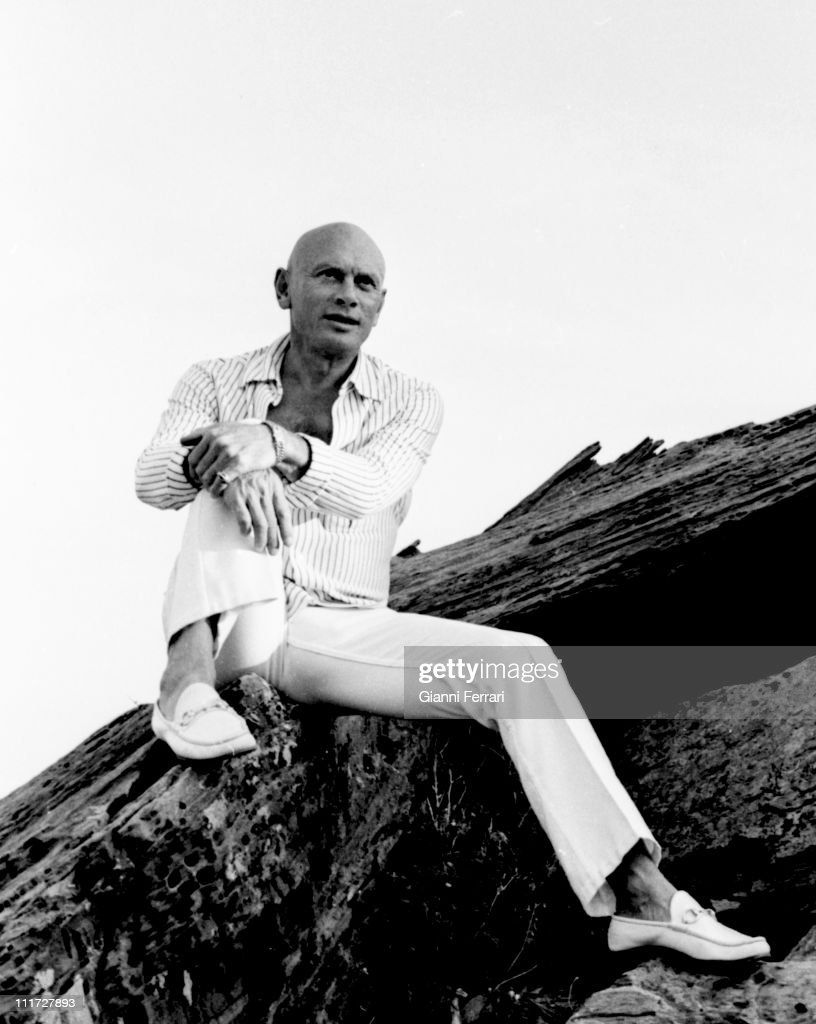 <a gi-track='captionPersonalityLinkClicked' href=/galleries/search?phrase=Yul+Brynner&family=editorial&specificpeople=204712 ng-click='$event.stopPropagation()'>Yul Brynner</a> on the Catalan coast during a break from filming of the movie 'The Light of the Edge of the World', 1971, Cadaques, Spain