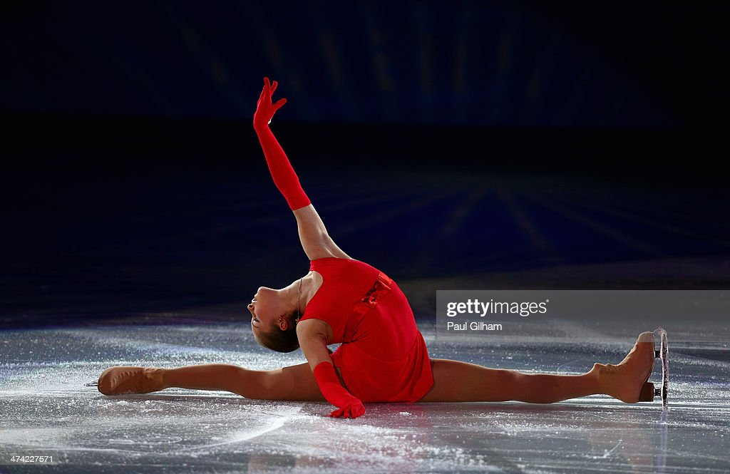 Yulia Lipnitskaia of Russia performs during the Figure Skating Exhibition Gala at Iceberg Skating Palace on February 22, 2014 in Sochi.