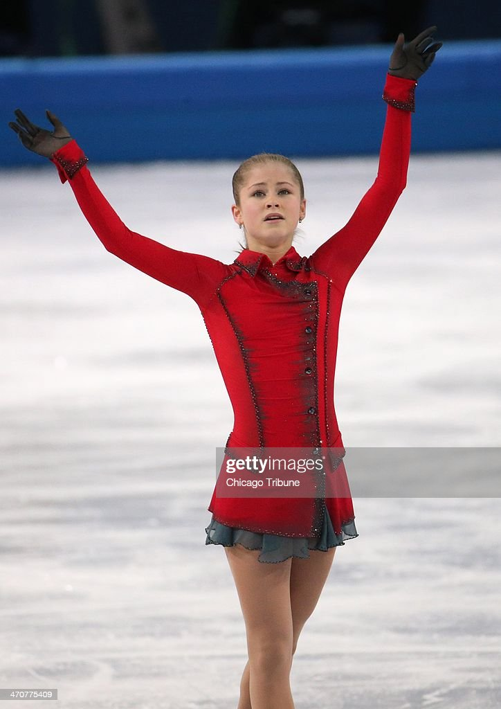 Yulia Lipnitskaya of Russia after performing in the ladies' figure skating free skate at the Iceberg Skating Palace during the Winter Olympics in Sochi, Russia, Thursday, Feb. 20, 2014.