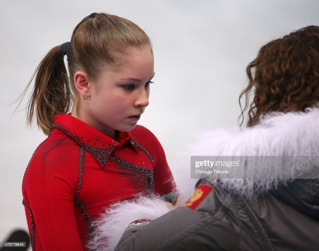 Yulia Lipnitskaya of Russia before performing in the ladies' figure skating free skate at the Iceberg Skating Palace during the Winter Olympics in Sochi, Russia, Thursday, Feb. 20, 2014.