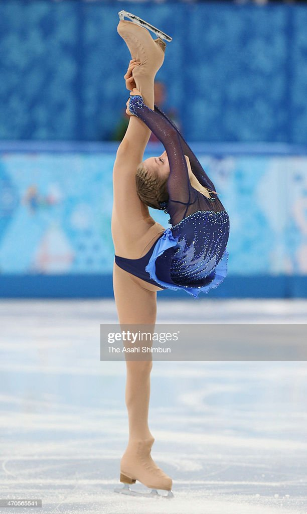 Yulia Lipnitskaya of Russia competes in the Figure Skating Ladies' Short Program on day 12 of the Sochi 2014 Winter Olympics at Iceberg Skating Palace on February 19, 2014 in Sochi, Russia.