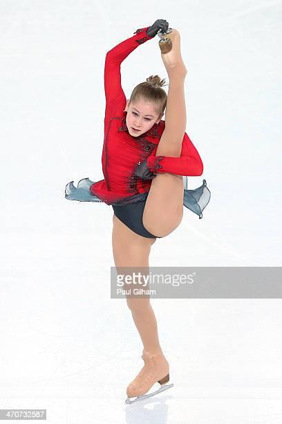 Yulia Lipnitskaya of Russia competes in the Figure Skating Ladies' Free Skating on day 13 of the Sochi 2014 Winter Olympics at Iceberg Skating Palace...