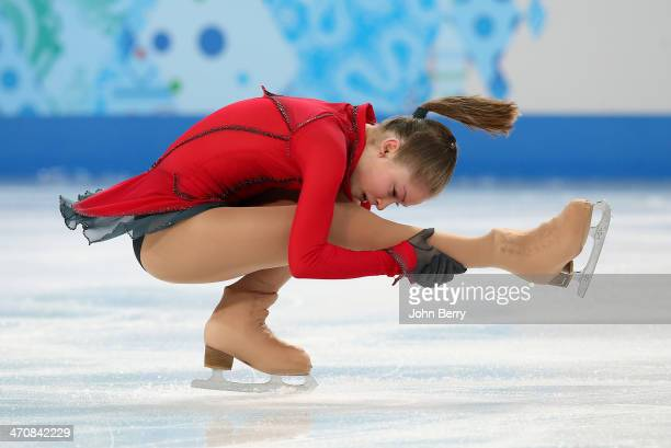 Yulia Lipnitskaya of Russia competes in the Figure Skating Ladies' Free Skating on day 13 of the Sochi 2014 Winter Olympics at Iceberg Skating Palace...
