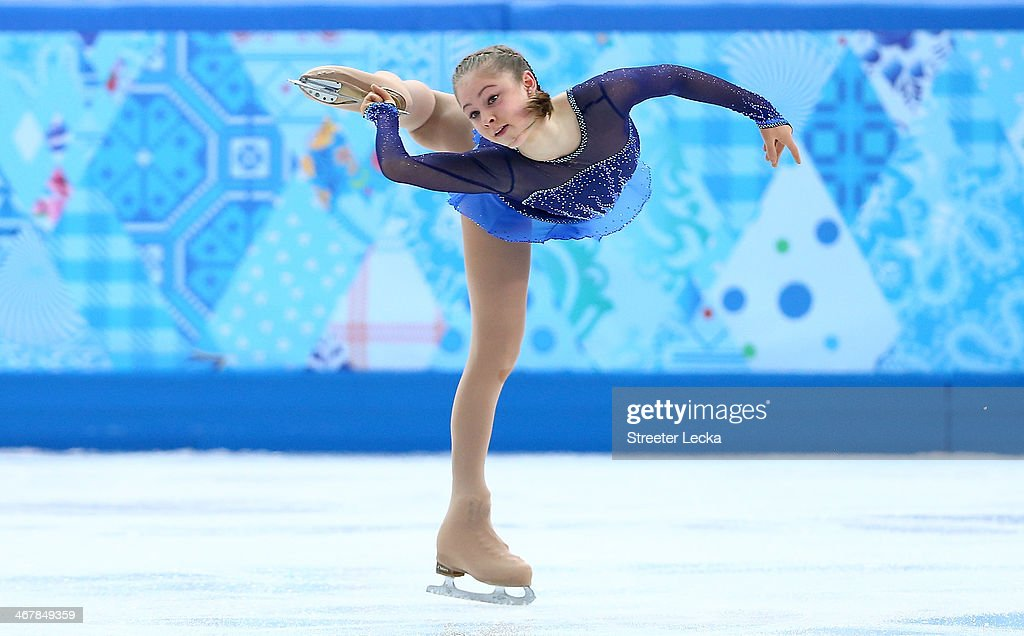 Yulia Lipnitskaya of Russia competes in the Figure Skating Team Ladies Short Program during day one of the Sochi 2014 Winter Olympics at Iceberg Skating Palace on February 8, 2014 in Sochi, Russia.
