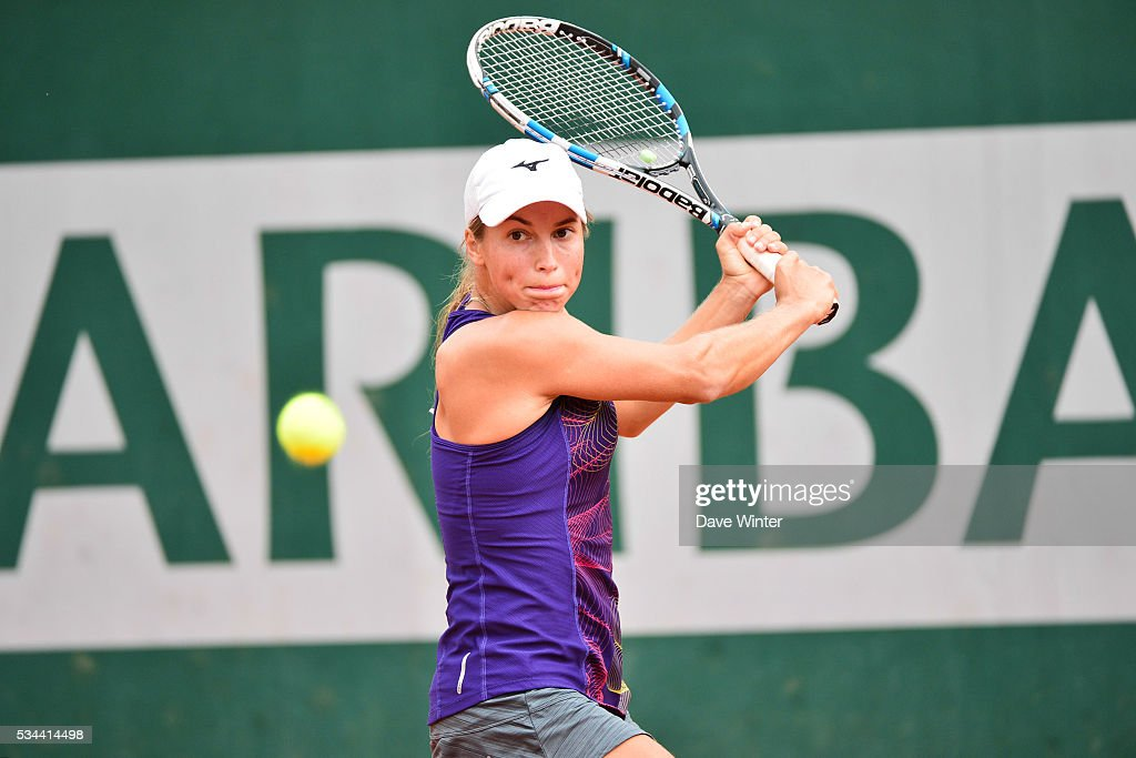 Yulia Putintseva during the Women's Singles second round on day five of the French Open 2016 at Roland Garros on May 26, 2016 in Paris, France.