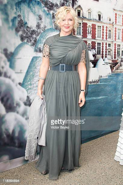 Yulia Yanina attends 'The White Fairy Tale Love Ball' in Support Of 'The Naked Heart Foundation' at Chateau De Wideville on July 6 2011 in Crespieres...