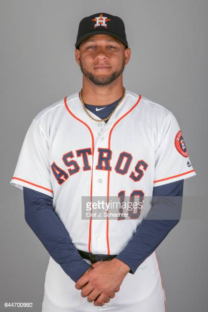 Yulieski Gurriel of the Houston Astros poses during Photo Day on Sunday February 19 2017 at the Ballpark of the Palm Beaches in West Palm Beach...